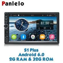 Panlelo S1 плюс 2 Din android-автомобильный радио gps 2G 32G Android 6,0 автомобилей Радио 2din с Bluetooth 7 дюймов, двойной Din Android для Kia