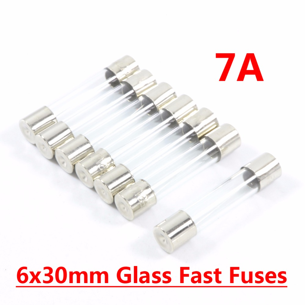 hight resolution of 20pcs fast quick blow type glass tube fuses 6x30mm 250v 7a fast blow fuse in fuses from home improvement on aliexpress com alibaba group