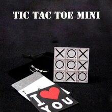 Tic Tac Toe Mini Magic Tricks Magician Close Up Illusions Gimmick Prop Mentalism Funny Classic Paper and Pencil Game Magia