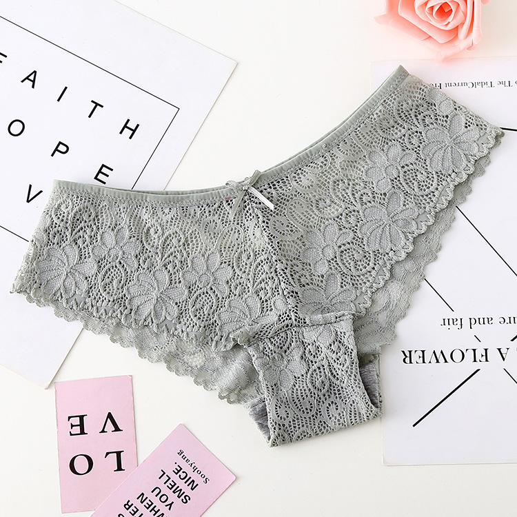 3pcs/lot, Sexy Lace Panties, Women's Fashion Cozy Lingerie, Tempting Pretty Briefs, Cotton Low Waist, Cute Women Underwear 24