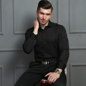 Image 2 - 2020 גברים חולצות אביב סתיו חדש הגעה Slim Fit זכר חולצה מוצק ארוך שרוול בסגנון בריטי כותנה גברים של חולצה להאריך ימים יותר YN10383