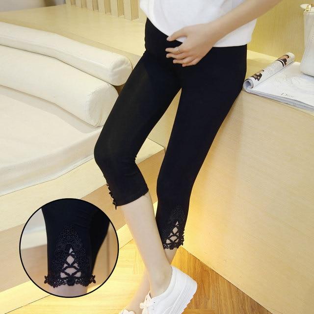 2016 Capri Pants Pregnant Women Adjustable Cotton Modal 7 Cropped Leggings Maternity Pants Solid Color Comfortable Leggings B60