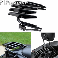 For Harley Touring Road King Electra Street Glide FLHR FLHX FLHT FLTR 2009-2015 Black Motorcycle Detachable Stealth Luggage Rack detachable stealth luggage rack for harley touring electra glide road king street glide touring 2009 2016 motorcycle