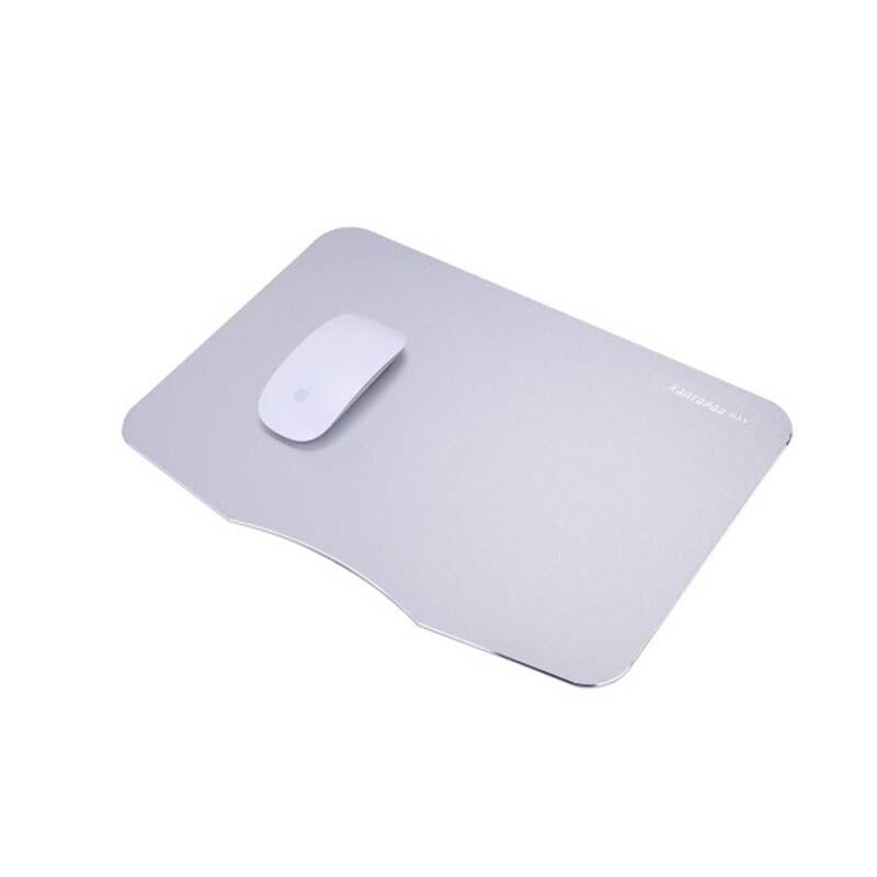 Rantopad Серебряный высококачественные 370x260 x0.28mm алюминиевый сплав износостойкие Профессиональный коврик для мыши для офиса csgo бак игровой мир