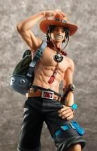 Figura de acción de One Piece POP, Ace Monkey D Luffy Sabo Fire Fist, modelo regalo coleccionable en PVC de 23cm