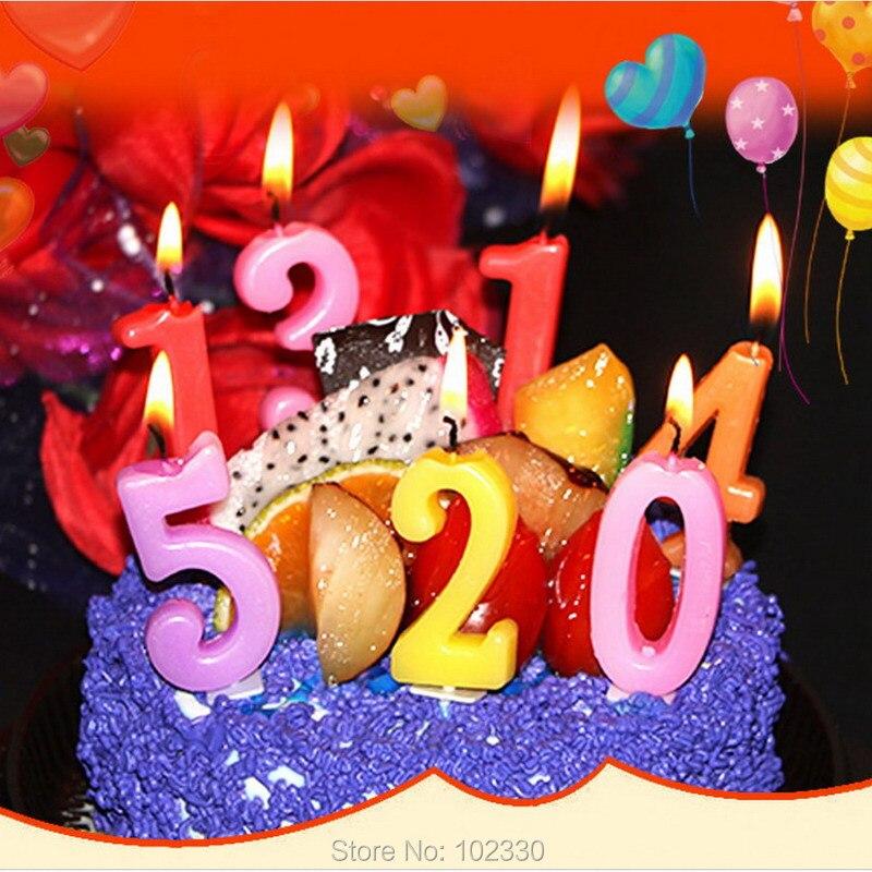Kue Nomor Usia Lilin Anak Bayi Perlengkapan Pesta Ulang