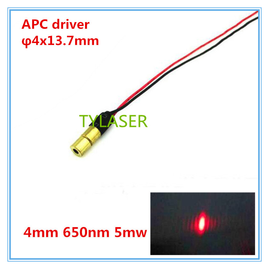 Class IIIA 4mm  650nm 5mW Red Dot Laser Module Industrial Grade APC Driver