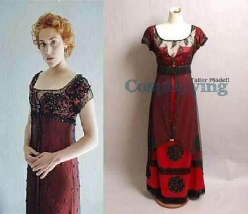 Titanic Kleid Titanic Rose Cosplay Kostüm Abend Ballkleid Partykleid ...