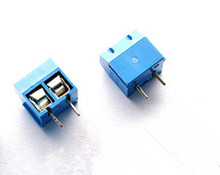 10pcs/Lot 2 Pin 5.0mm Pitch Blue Connect Terminal Block Terminal Connector Screw Terminal Connector KF301-5.0-2P