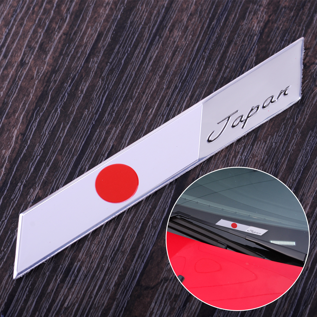DWCX 3D Car Auto Japan Japanese Flag Emblem Sticker Metal ...