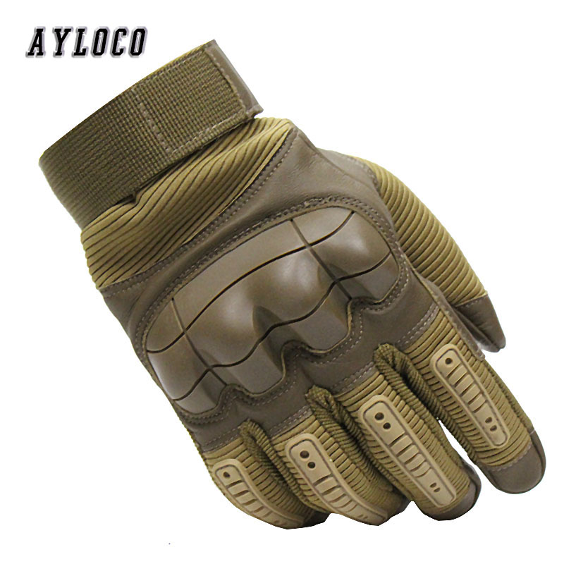 Touch Screen Men's Military Tactical Gloves Rubber Hard Knuckle Full Finger Gloves Army Paintball Shooting Airsoft Bicycle