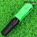 KELUSHI 150 pcs De Fibra Óptica Conector Rápido SC/APC Conector Do Fio Coberto para a Transmissão de CATV/FTTH, Livre grátis