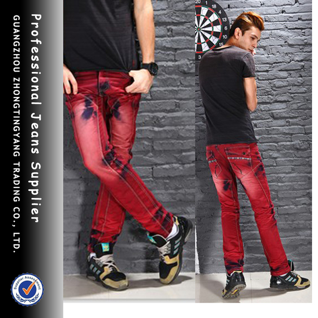 Hot sales 2013 Wholesale Fashion Brand Red Color Jeans For Young ...