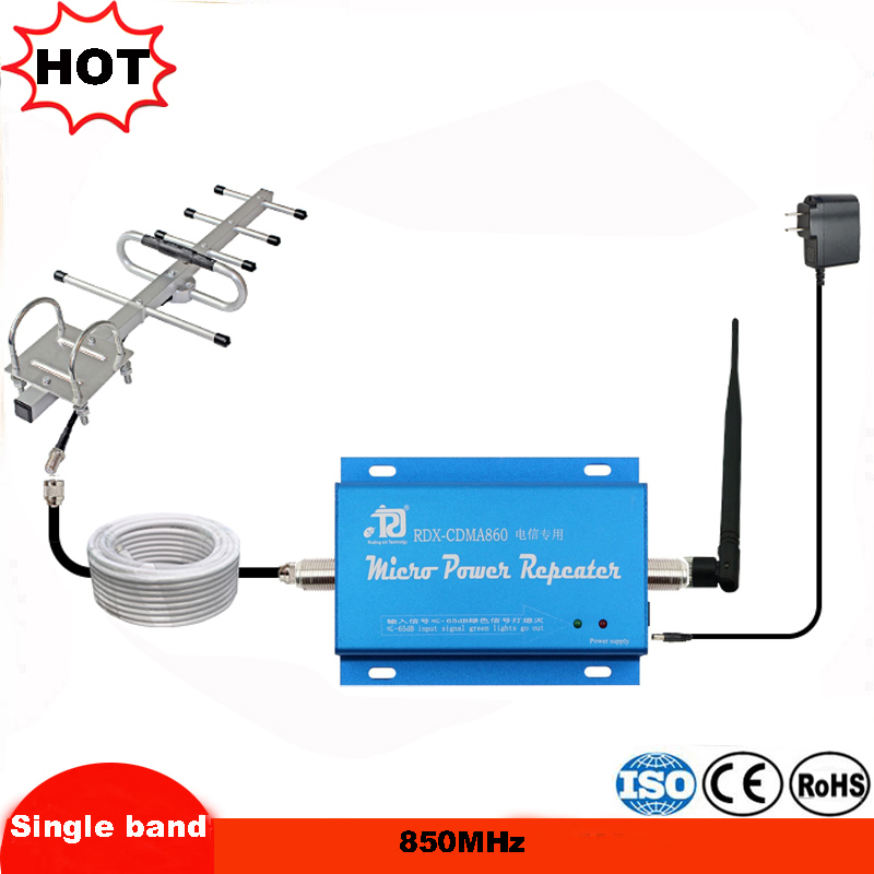 LCD Display 850 Mhz Signal Repeater,mini Celular 65dB Cdma Mobile Signal Booster Mobile Phone Amplifier