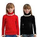 Suéteres de las muchachas de Manga Larga de Cuello Alto Suéteres de Punto Para Niñas Niños Otoño Invierno Ropa de Abrigo Adolescentes Prendas de Punto