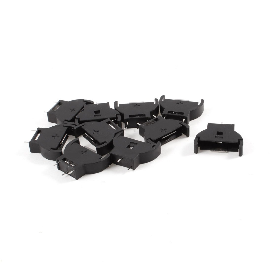 Brand New 10 Pieces Plastic Shell CR2032 <font><b>Button</b></font> <font><b>Cell</b></font> <font><b>Battery</b></font> Sockets <font><b>Holder</b></font> Case Black