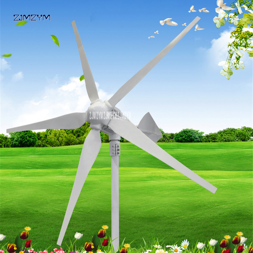5 blades wind power generator DC24V/48V 1000W Permanent magnet three-phase alternator Wind Generator Electrical Equipment Z-1000 with gear 40w 50w hand cranked generator dc small generator 12v 24v permanent magnet dc motor dual use