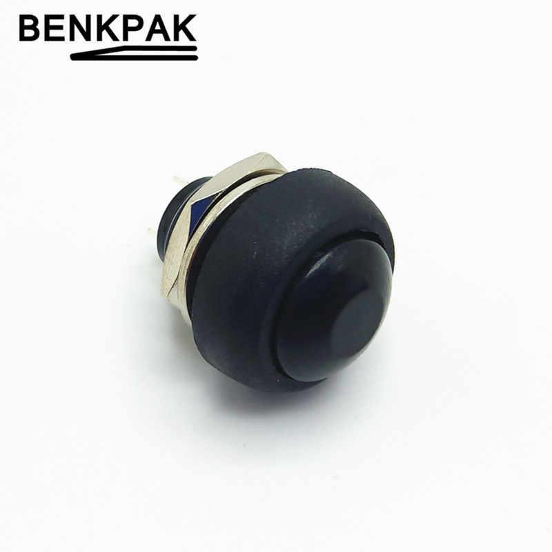 12mm étanche bouton-poussoir momentané interrupteur OFF-(ON) auto retour