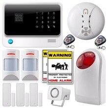 Беспроводной Wi-Fi Сети GSM SMS Главная Охранной Сигнализации Система IOS Android app Control + новый анти-животное pir детектор wi-fi Сигнализация