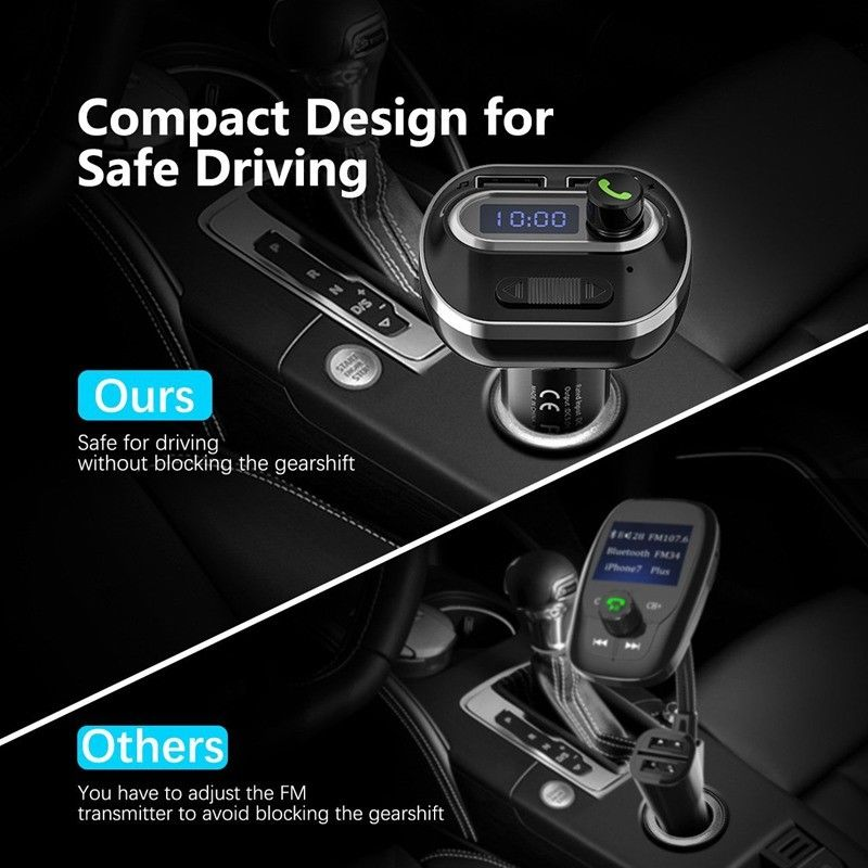 Беспроводной радио адаптер Bluetooth ресивер FM-радиочастотный передатчик адаптер Автомобильная Музыка напряжение обнаружения Универсальный