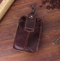 Belt Clip Man Genuine Cow Leather Mobile Phone Case Pouch For ZTE Blade V7 Lite S7