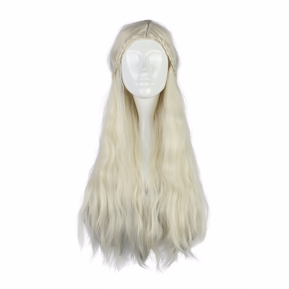 MCOSER 70cm Long Synthetic Curly Synthetic Beige Brown Color Two Styles Cosplay Wig 100% High Temperature Fiber Hair WIG-016