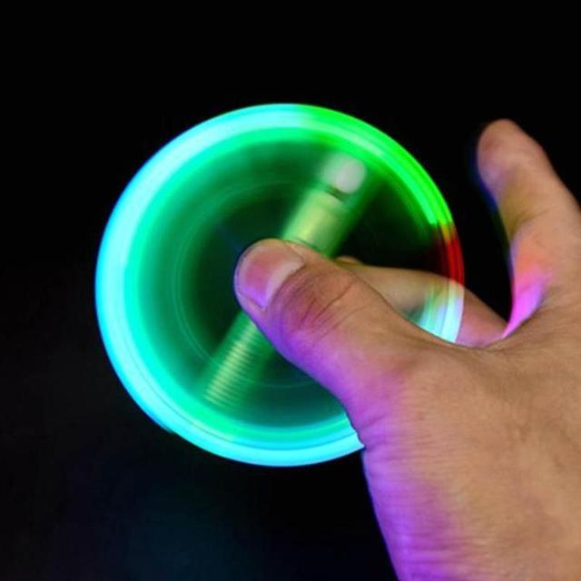 LED Spinning Pen Ball Pen Fidget Spinner Hand Top Glow In Dark Light EDC Stress Relief Toys Kids Toy Gift School Fidget Spinner
