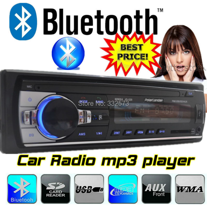 2016 12V Car Stereo FM Radio MP3 font b Audio b font Player built in Bluetooth