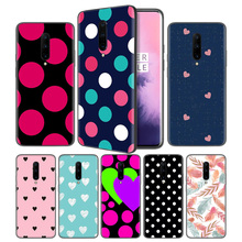 Polka Dots Feather Soft Black Silicone Case Cover for OnePlus 6 6T 7 Pro 5G Ultra-thin TPU Phone Back Protective