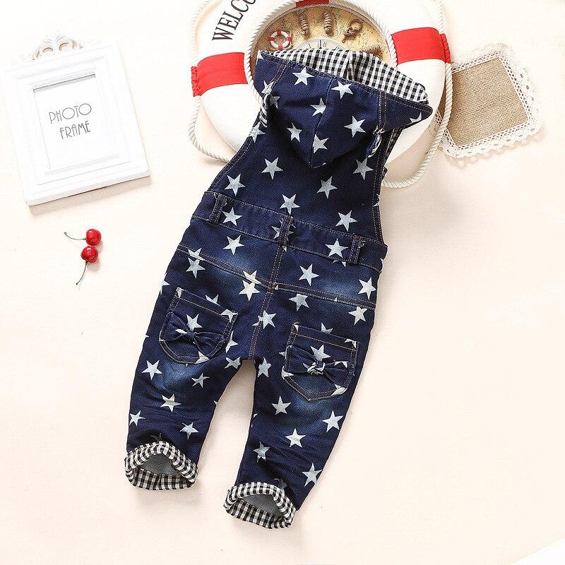 6c221008a MRJMSL Мода Весна Осень Детские Комбинезоны Ребенок Джинсовые Комбинезоны  Дети Джинсы Брюки для Мальчиков Комбинезоны звезды