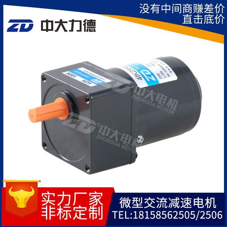 25W40W60W miniature small AC speed gear reduction gear motor25W40W60W miniature small AC speed gear reduction gear motor