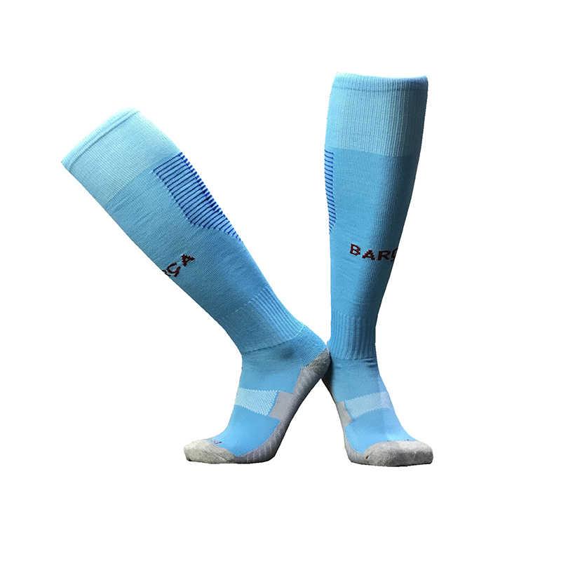 Спортивные носки с логотипом сборной Германии, Испании, плотные Гольфы с толстой подошвой, Детские компрессионные футбольные носки