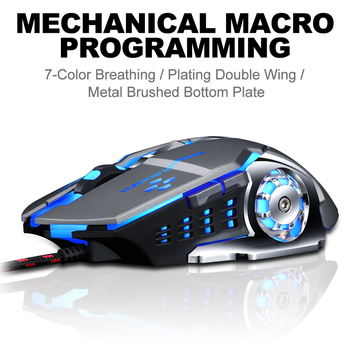 Pro Gamer Gaming Mouse 8D 3200DPI Adjustable Wired Optical LED Computer Mice USB Cable Silent Mouse for laptop PC 2