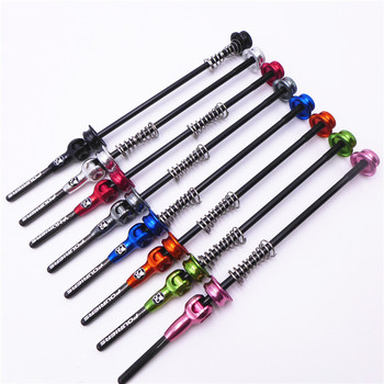 Fouriers Bicycle Quick Release Titanium Axel With Carbon Lever QR Skerwers For MTB Or Road Bike