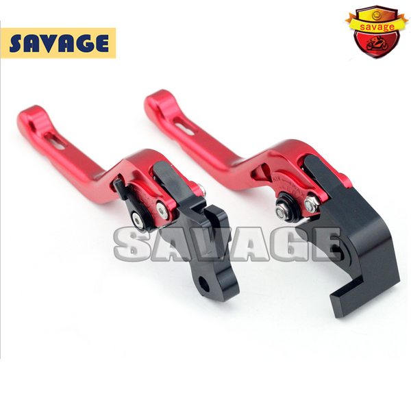ФОТО For DUCATI HYPERMOTARD 821 SP 2013-2014 Red Motorcycle Accessories CNC Aluminum Short Brake Clutch Levers