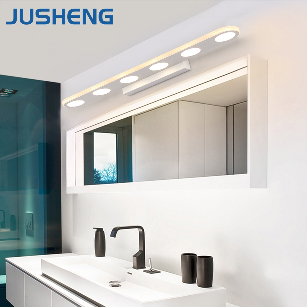 JUSHENG Modern White Color LED Bathroom Light Fixture 9 18W LED ...