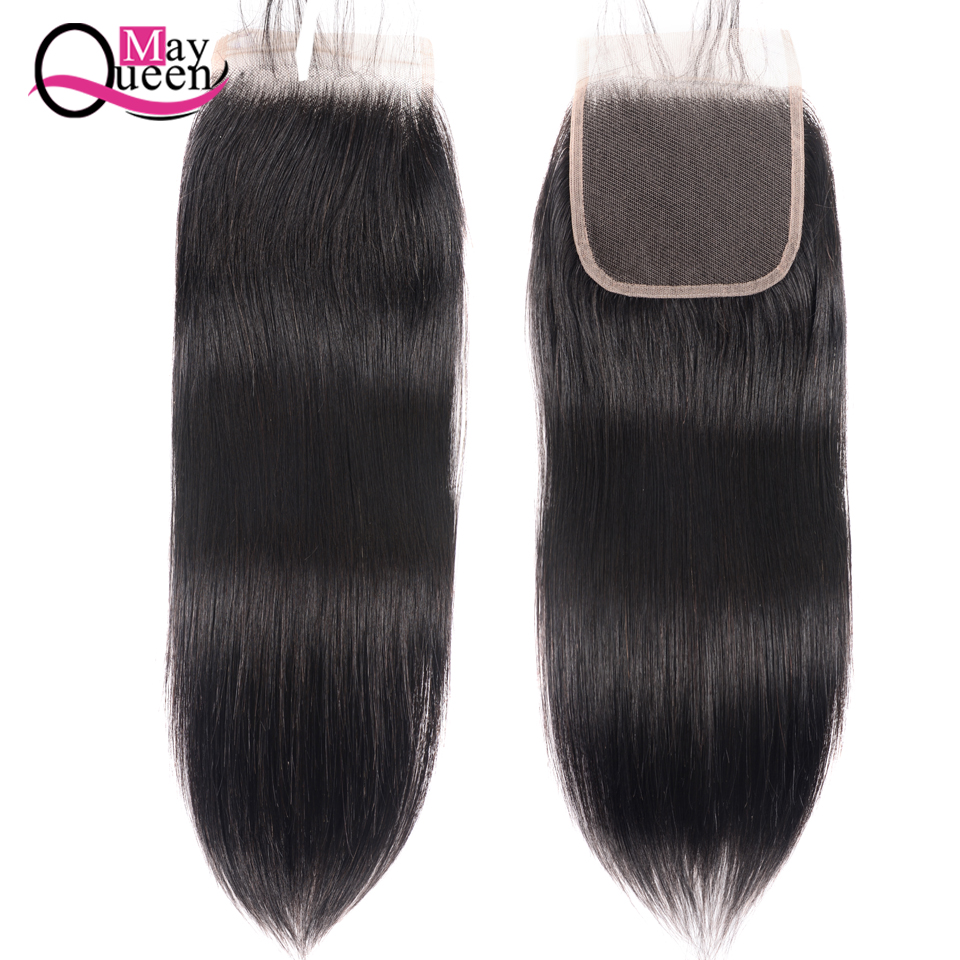 Peruvian Hair Closure Straight 4*4 Lace Closure 100% Human Hair Natural Color Remy Hair Weaving 1PC/Lot Free Shipping