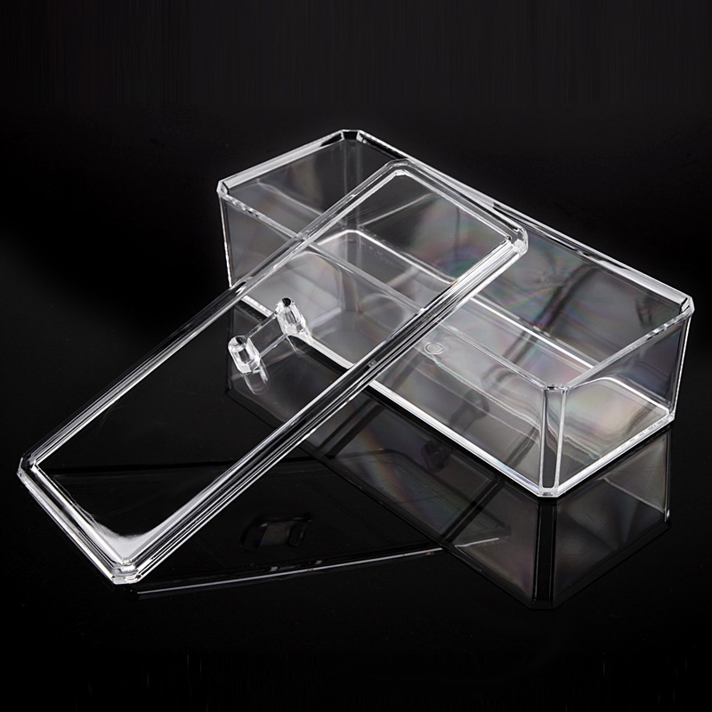 Transparent Nail Art Brushes Storage Box Clear Large Capacity Makeup Brushes Pens Jewelry Beads Organzier Case Box