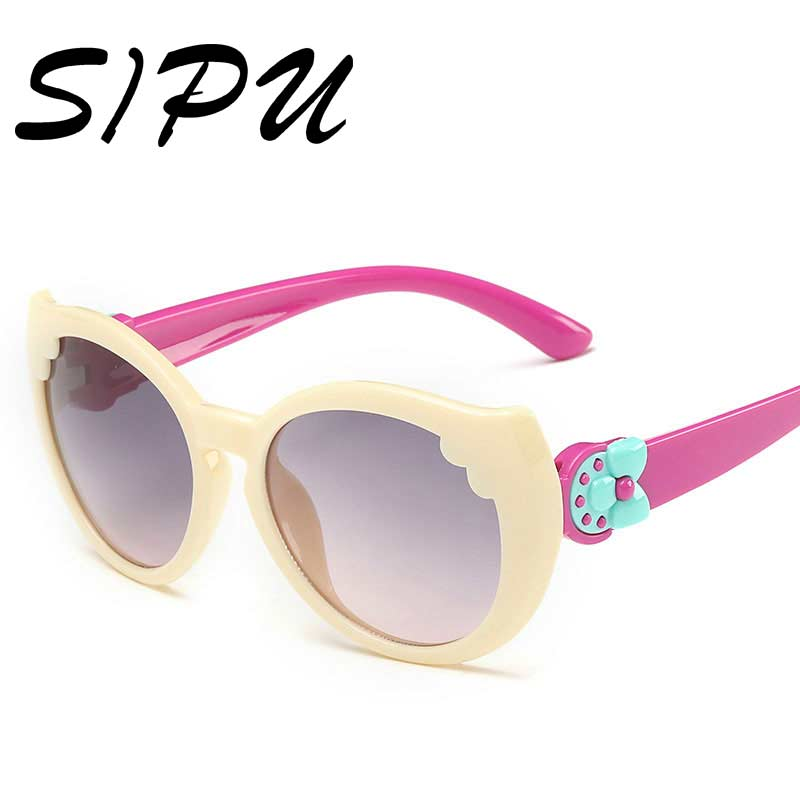 Kid Sunglasses Children Fashion Designer Brand Plastic Plastic Frame Girl Anti UV Protection Flexible Rubber Girls Sunglasses