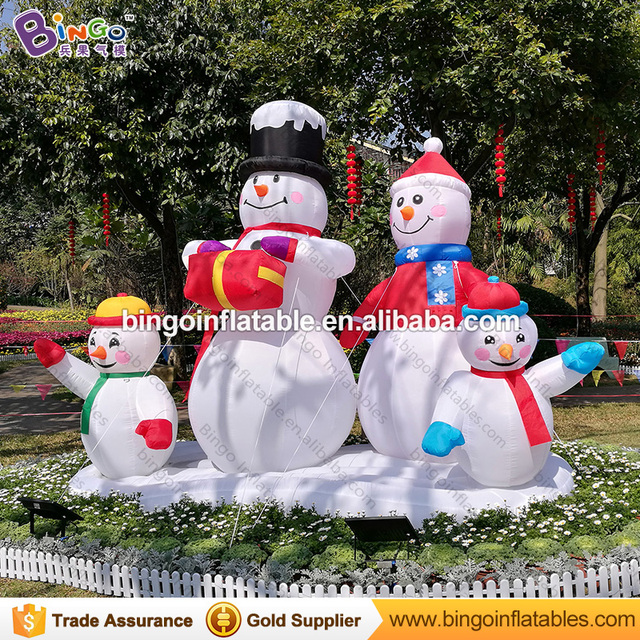 nightmare before christmas decor inflatable christmas snowman family holiday yard decoration 3m inflatable christmas 4