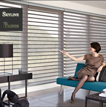 Free shipping New  Motorized Shangri-La  blinds 200cm Drop with Dooya motor Three Wires DM35RQ