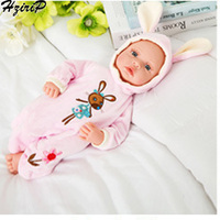 HziriP Birthday Present Appease Doll Sleep With Baby Plush Silicone Simulation Baby For Kindergarten Children In Stock Items