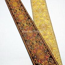 50mm 5cm 2 quality qualidade delicado grosso cetim de ouro ponto vintga tribunal cama luxo lacess nacional jacquard fita tecido webbing