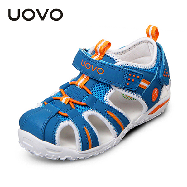 UOVO 2017 Summer Top Children Shoes Boys & Girls Breathable Sandals Fashion Outdoor Casual Hook & Loop For Child Size 24-36
