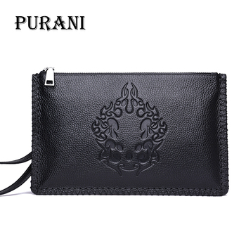 PURANI Male Clutch Wallets Genuine Leather Wallet Men Clutch Bags Clutch Male Wallet Coin Purse Long Men Wallet Men Handy Bag фото