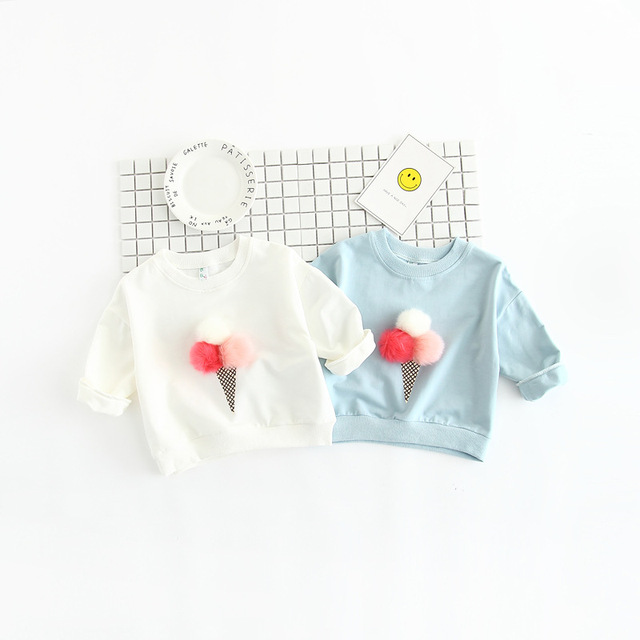 Cute Baby Shirt 2017 Spring Fall New Children S Clothing Girls Color
