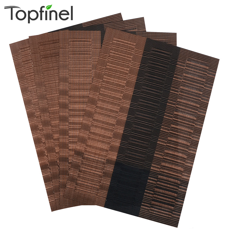 Top Finel PVC Placemat For Table Mat Pad Drink Wine Coasters Bamboo  Placemats Dining Table Place