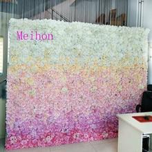 40X60cm 3D Wedding Flower Wall Gradual Change Artificial Hydrangea Peony Rose Stage Decoration Backdrop Panels Arch Decor