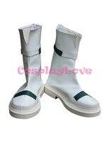 Magical Girl Lyrical Nanoha Takamachi Nanoha White Cosplay Shoes Boots Hand Made Custom Made For Halloween