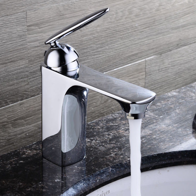 HPB Free Shipping Copper Brass Bathroom Faucet Basin Mixer Tap Hot Cold Water Deck Mounted torneira Chrome HP3032 free shipping waterfall faucet brass chrome bathroom faucet deck mounted basin mixer tap b 208b